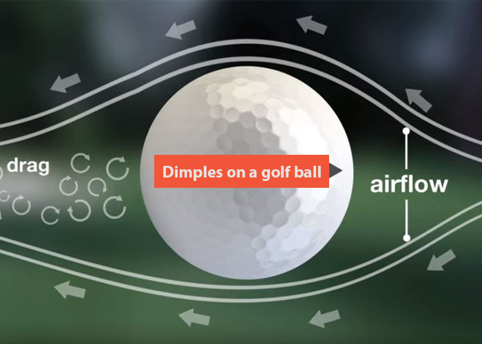 How many dimples on a golf ball
